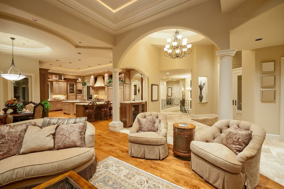 Modern Classical Tray Ceiling